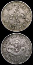 London Coins : A167 : Lot 2300 : China - Kiangnan Province (2) 20 Cents (1898) No ring around dragon Y#143a NVF, 10 Cents with large ...
