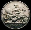 London Coins : A167 : Lot 2330 : Greece Drachma 1910  Reverse: Mythological figure of Thetis with shield of Achilles seated on sea ho...