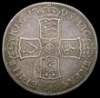 London Coins : A167 : Lot 2448 : Halfcrown 1703 VIGO ESC 569, Bull 1358 Good Fine, Toned, with graffiti in one angle of the reverse