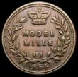 London Coins : A167 : Lot 2494 : Mille, Pattern Model Mille 1854, in the style of Joseph Moore Peck 2098, listed as 'Very Scarce...