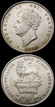 London Coins : A167 : Lot 2535 : Shillings (2) 1826 ESC 1257, Bull 2409 EF and lustrous with minor contact marks, 1883 ESC 1342, Bull...