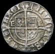 London Coins : A167 : Lot 390 : Halfgroat Henry VIII Second Coinage, York Mint, Archbishop Lee EL beside shield S.2348 mintmark Key,...