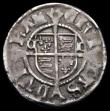 London Coins : A167 : Lot 417 : Penny Henry VIII Second Coinage, Sovereign type, Durham Mint Archbishop Tunstall, CD beside shield, ...