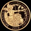 London Coins : A167 : Lot 45 : Five Hundred Pounds 2019 Britannia Five Ounce (.999 Fine) Gold Proof, in an oversized PCGS holder, c...
