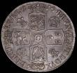 London Coins : A167 : Lot 464 : Crown 1718  8 over 6 Roses and Plumes QUINTO, ESC 111A, Bull 1542 NEF attractively toned with minor ...