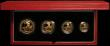 London Coins : A167 : Lot 7 : Britannia Gold Proof Set 2000 the 4-coin set comprising £100 One Ounce, £50 Half Ounce, ...