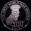 London Coins : A167 : Lot 846 : One Hundred Pounds 2014 World War I - Lord Kitchener S.4905 Platinum Proof, in an NGC holder and gra...
