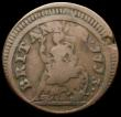 London Coins : A168 : Lot 1016 : Farthing 1713 Contemporary forgery in copper, reverse in the style of Peck 752, BRITANNIA . 1713 . r...