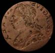 London Coins : A168 : Lot 1032 : Mint Error - Mis-Strike Halfpenny George III  (1771-1775) obverse brockage NVF and unusual