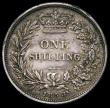 London Coins : A168 : Lot 1033 : Mint Error - Mis-Strike Shilling 1858 the edge split around 60% of the coin GVF