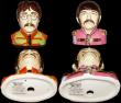 London Coins : A168 : Lot 1045 : Pop Legends Busts - The Beatles (4) Ceramic Sculptures by Peggy Davies, modelled by Ray Noble, a lim...