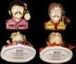 London Coins : A168 : Lot 1046 : Pop Legends Character Jug The Beatles (4) Ceramic Sculptures by Peggy Davies, modelled by Ray Noble,...