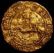 London Coins : A168 : Lot 1070 : Angel Henry VIII First Coinage S.2265 mintmark Portcullis, 5.11 grammes, Fine or better, creased and...