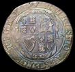London Coins : A168 : Lot 1090 : Halfcrown Charles I Group II, type 2c, Second Horseman, Reverse with oval shield S.2771 mintmark Har...