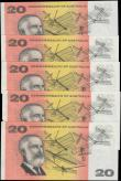 "London Coins : A168 : Lot 112 : Australia Reserve Bank 20 Dollars Pick 41a ND (1966-1972) ""Commonwealth of Australia"" Doll..."