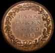 London Coins : A168 : Lot 1176 : Dollar Bank of England 1811 Five Shillings and Sixpence Proof in copper Obverse K Reverse 5a, struck...