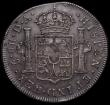 London Coins : A168 : Lot 1177 : Dollar George III Oval Countermark on 1793 Chile 8 Reales, Santiago Mint ESC 134, Bull 1853, Counter...