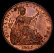 London Coins : A168 : Lot 1191 : Farthing 1825 First Head, D over U in DEI, a known variety surprisingly unlisted by Peck, a clear ov...