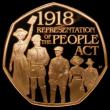 London Coins : A168 : Lot 1201 : Fifty Pence 2018 100th Anniversary of the Representation of the People's Act S.H48 Gold Proof F...