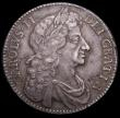 London Coins : A168 : Lot 1320 : Halfcrown 1677 ESC 479 EF but with an X scratched into the obverse field, and adjustment lines aroun...