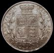 London Coins : A168 : Lot 1372 : Halfcrown 1881 ESC 707, Bull 2758, Davies 590 dies 4D UNC with golden tone, in an LCGS holder and gr...