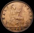 London Coins : A168 : Lot 1418 : Halfpenny 1869 Freeman 306 dies 7+G EF lightly cleaned with some surface residue in the legends, Rar...