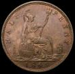 London Coins : A168 : Lot 1419 : Halfpenny 1869 Freeman 306 dies 7+G UNC with traces of lustre, in an LCGS holder and graded LCGS 80,...