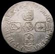 London Coins : A168 : Lot 1503 : Sixpence 1697N First Bust GVLIEMVS error, ESC 1561A, Bull 1293 Good Fine on a porous flan, Excessive...