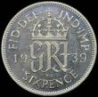 London Coins : A168 : Lot 1515 : Sixpence 1939 VIP Proof/Proof of Record ESC 1829B, Bull 4226, Davies 2192P, in a PCGS holder and gra...