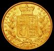 London Coins : A168 : Lot 1548 : Sovereign 1869 Marsh 53, Die Number 47, VF, Ex-wreck of 'The Douro', comes in brown Coincr...