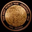 London Coins : A168 : Lot 1657 : Two Pounds 2018 100th Anniversary of the First World War Armistice S.K49 Gold Proof one small nick i...