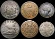 London Coins : A168 : Lot 1924 : Spain (8) 2 Pesetas 1870 (Year 70) KM#654 Fine/Good Fine toned with some surface marks, 2 Reales 185...