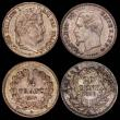 London Coins : A168 : Lot 2000 : France (4) 50 Centimes 1866BB KM#814.1 UNC and lustrous, the obverse with some light contact marks, ...