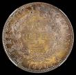 London Coins : A168 : Lot 2025 : India Rupee 1840 Bombay 19 Berries, Small diamonds, KM#457.3 with an attractive and colourful tone, ...