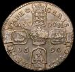London Coins : A168 : Lot 2028 : Ireland Crown 1690 Gunmoney S.6578, Timmins TB60Y-1A VICT/ORE with Bar over NO, VF or better with a ...