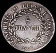London Coins : A168 : Lot 2033 : Italian States - Lucca 5 Franchi 1807 KM#24.3 Fine and bold