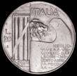 London Coins : A168 : Lot 2043 : Italy 20 Lire 1928R Year VI, Tenth Anniversary of the End of World War I, KM#70 AU/GEF with a small ...