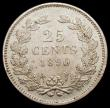 London Coins : A168 : Lot 2067 : Netherlands 25 Cents 1890 GEF