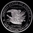 London Coins : A168 : Lot 2106 : USA One Trillion Dollars 2013 Trial Pattern in platinum plated copper, 27.91 grammes, Prooflike UNC....