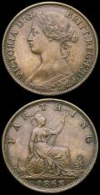 London Coins : A168 : Lot 2142 : Farthings (2) 1840 Peck 1559 UNC with traces of lustre, Ex-London Coins Auction A141 2/6/2013 Lot 14...