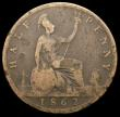 London Coins : A168 : Lot 2208 : Halfpenny 1862 Die Letter A Freeman 290A dies 7+G Fair/VG the reverse with date legends and the Die ...