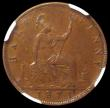 London Coins : A168 : Lot 2216 : Halfpenny 1871 Freeman 308 dies 7+G in an NGC holder and graded AU53