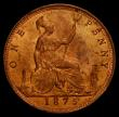 London Coins : A168 : Lot 2258 : Penny 1875 Freeman 82 dies 8+J Lustrous UNC, in an LCGS holder and graded LCGS 80