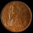 London Coins : A168 : Lot 2273 : Penny 1891 Freeman 132 dies 12+N, UNC and lustrous, in an LCGS holder and graded LCGS 78, Ex-London ...