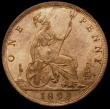 London Coins : A168 : Lot 2275 : Penny 1893 3 over 2 Gouby BP1893B Choice UNC and with around 75% lustre, in an LCGS holder and grade...