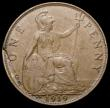 London Coins : A168 : Lot 2295 : Penny 1919KN Freeman 187 dies 2+B EF the reverse with an edge flaw behind Britannia extending down t...