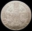 London Coins : A168 : Lot 2299 : Shilling 1705 Plumes ESC 1135, Bull 1392 VG and scarce
