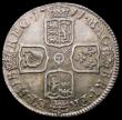 London Coins : A168 : Lot 2300 : Shilling 1711 Fourth Bust ESC 1158, Bull 1408 NEF with grey tone