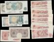 London Coins : A168 : Lot 44 : Bank of England 10 Shillings and 1 Pounds 1940's onwards including different cashiers and examp...