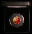 London Coins : A168 : Lot 637 : Alderney One Pound 2019 Remembrance Day Gold Proof with coloured Poppies on the reverse, FDC in the ...